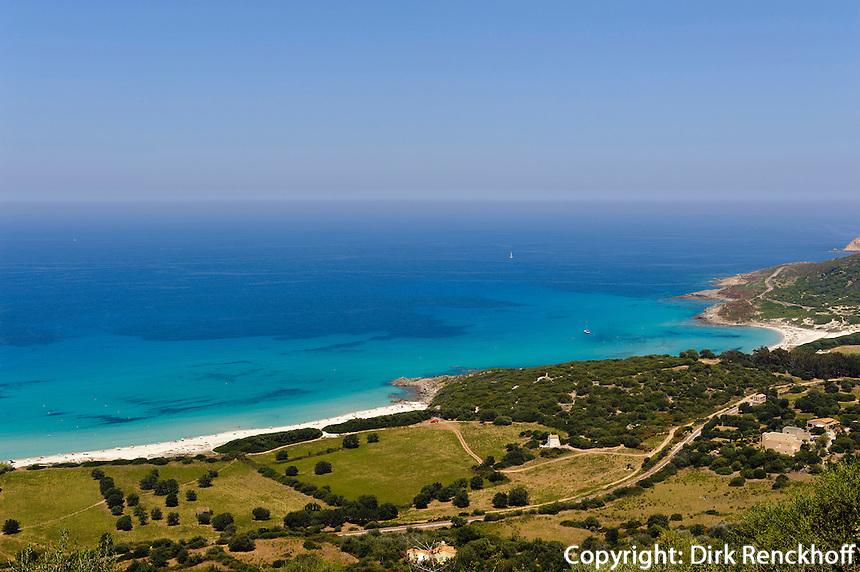 Strand südlich von  L'Ile Rousse, Korsika, Frankreich