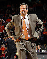 Jan. 2, 2011; Charlottesville, VA, USA; Virginia Cavaliers head coach Tony Bennett reacts to a call during the game against the LSU Tigers at the John Paul Jones Arena. Virginia won 64-50. Mandatory Credit: Andrew Shurtleff-