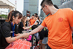 Pre-Race activities at the Bloomberg Square Mile Relay near the Huangpu River in Shanghai, China. Photo by Marcio Machado / Power Sport Images