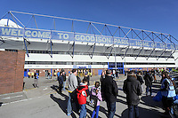 Pictured: Goodison Road outside Godisson Park stadium. Sunday 16 February 2014<br /> Re: FA Cup, Everton v Swansea City FC at Goodison Park, Liverpool, UK.