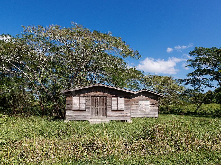 Small rural shack in Westmoreland Parish, Jamaica