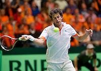 06-04-12, Netherlands, Amsterdam, Tennis, Daviscup, Netherlands-Rumania, Robin Haase