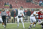 South Florida Bulls quarterback Mike White (14) in action during the game between the South Florida Bulls and the SMU Mustangs at the Gerald J. Ford Stadium in Fort Worth, Texas. USF defeats SMU 14 to 13.
