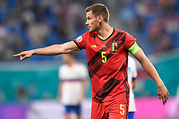 ST PETERSBURG, RUSSIA - JUNE 12 :  Jan Vertonghen team captain and defender of Belgium shouts instructions to a teammate pictured during the 16th UEFA Euro 2020 Championship Group B match between Belgium and Russia on June 12, 2021 in St Petersburg, Russia, 12/06/2021 <br /> Photo Photonews / Panoramic / Insidefoto <br /> ITALY ONLY