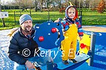 John and Fionn Timlin enjoying the town park playground in Tralee on New Years Eve.