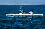 Mexico, Baja California Sur, La Paz, Isla Espiritu Santo, Kayaking- Model Released