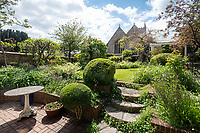 BNPS.co.uk (01202) 558833.<br /> Pic: CarterJonas/BNPS<br /> <br /> Pictured: Garden. <br /> <br /> The former family home of Lord of the Flies author William Golding has gone on sale for £1m.<br /> <br /> The Grade II Listed cottage on a green in Marlborough is said to have inspired some of the Nobel Prize winning writer's work.<br /> <br /> His parents Alec, a teacher, and Mildred, a suffragette, bought the house and moved there in 1905, when Mr Golding obtained a job at the town's grammar school.<br /> <br /> Sir William was born in 1911 and he and his brother lived in the property and its location influenced his writing. He wrote of the property: 'Our house was on the green, that close like square, tilted south'.