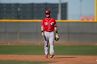 Cincinnati Reds shortstop Josh VanMeter (30) during a Minor League Spring Training game against the Chicago White Sox at the Cincinnati Reds Training Complex on March 28, 2018 in Goodyear, Arizona. (Zachary Lucy/Four Seam Images)