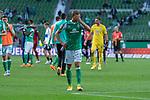 19.09.2020, wohninvest Weserstadion, Bremen, GER,  SV Werder Bremen vs Hertha BSC Berlin, <br /> <br /> <br />  im Bild<br /> <br /> enttäuscht / enttaeuscht / traurig / Niederlage / dissapointed<br /> <br /> Ludwig Augustinsson (Werder Bremen #05)<br /> Foto © nordphoto / Kokenge<br /> <br /> DFL regulations prohibit any use of photographs as image sequences and/or quasi-video.