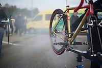 post-race cleaning<br /> <br /> UCI Worldcup Heusden-Zolder Limburg 2013