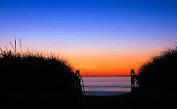 Beach enterance at sunrise, Nauset Beach, Cape Cod