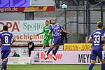 25.09.2020, Stadion an der Bremer Brücke, Osnabrück, GER, 2. FBL VfL Osnabrück vs. Hannover 96<br />   <br /> im Bild<br /> Niklas Hult (Hannover 96, 3) und Etienne Amenyido (VfL Osnabrück, 14) im Kopfballduell.<br /> <br /> <br /> DFL regulations prohibit any use of photographs as image sequences and/or quasi-video. <br /> <br /> Foto © nordphoto / Paetzel