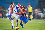 Alberto Martin (l) of Deportivo Leganes competes for the ball with Fernando Torres of Atletico de Madrid during their La Liga match between Atletico de Madrid and Deportivo Leganes at the Vicente Calderón Stadium on 04 February 2017 in Madrid, Spain. Photo by Diego Gonzalez Souto / Power Sport Images