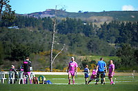Officials prepare for the Under-19 provincial rugby union tournament at Owen Delaney Park, Taupo, New Zealand on Sunday, 27 September 2015. Photo: Dave Lintott / lintottphoto.co.nz
