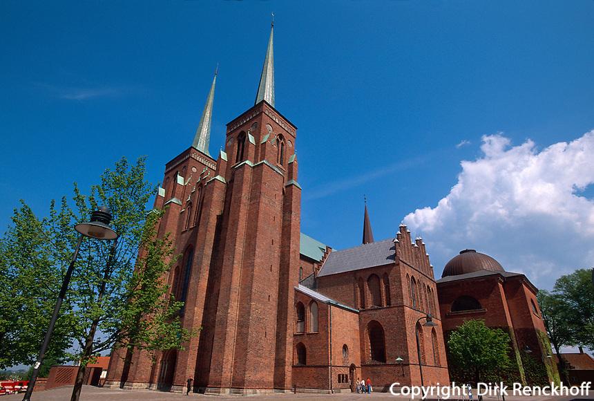 Daenemark, Seeland, Dom in Roskilde bei Kopenhagen, Unesco-Weltkulturerbe