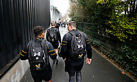 Photo: Richard Lane/Richard Lane Photography. Stade Rochelais v Wasps.  European Rugby Champions Cup. 10/12/2017. Wasps players arrive.