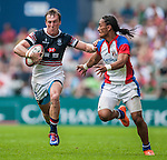 Hong Kong vs American Samoa during the Cathay Pacific / HSBC Hong Kong Sevens at the Hong Kong Stadium on 28 March 2014 in Hong Kong, China. Photo by Juan Flor / Power Sport Images