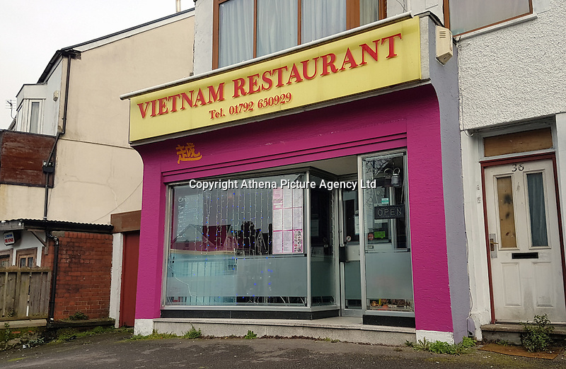 Pictured: The Vietnam restaurant in Uplands, Swansea, Wales, UK. Tuesday 07 March 2017<br /> Re: A restaurant customer suffered a severe reaction to food they thought was gluten-free, but wasn't.<br /> A safety call has been issued following a court case involving the owner of popular Uplands-based restaurant Vietnam.<br /> Manh Van Vo pleaded guilty to two offences contrary to the Food Information (Wales) Regulations 2014 at Swansea Magistrates' Court. He was fined a total of £1,200 and ordered to pay costs of £828.<br /> Swansea Council's Trading Standards staff initially received a complaint in July 2016 from a consumer who had visited the restaurant, requested gluten-free meals but became ill shortly after.<br /> Officers then visited the restaurant and bought the same meals as the complainant so they could be tested.<br /> Results from the tests showed that one of the gluten-free meals was found to have over 80 times the permitted maximum levels of gluten.