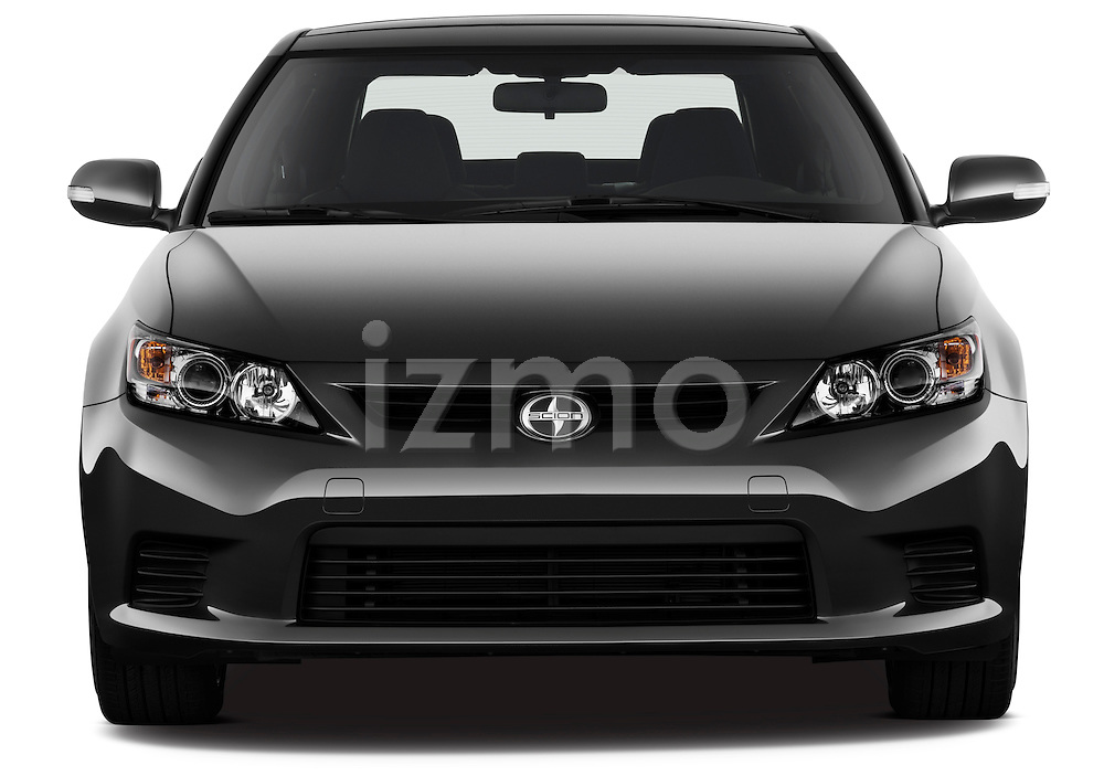 Straight front view of a 2011 Scion TC