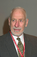 March 20 2003, Montreal, Quebec, Canada<br /> <br /> David Anderson, Canada's Environment Minister  at  the Opening plenary Session of Americana, a 3 days <br /> conference & trade show on environement and waste management organized by Reseau Environnement, March 20 2003 in Montreal, Canada.<br /> <br /> Mandatory Credit: Photo by Pierre Roussel- Images Distribution. (©) Copyright 2003 by Pierre Roussel <br /> <br /> NOTE : <br />  Nikon D-1 jpeg opened with Qimage icc profile, saved in Adobe 1998 RGB<br /> .Uncompressed  Original  size  file availble on request.