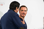 "Carlos Bardem and Michael Fassbender during the presentation of the film ""Assassin's Creed"" in Madrid, Spain. December 07, 2016. (ALTERPHOTOS/BorjaB.Hojas)"