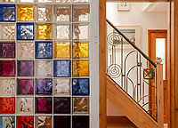 BNPS.co.uk (01202) 558833. <br /> Pic: UniquePropertyCompany/BNPS<br /> <br /> Pictured: Stained glass and stairs. <br /> <br /> Haus proud...<br /> <br /> A house designed in German Bavarian style in the south London commuter belt is on the market for £1.1m.<br /> <br /> Holly Lodge, a former pheasant shooting lodge and coaching inn, belonged to an engineer who fell in love with German architecture when he worked in the country.<br /> <br /> He bought and completely redesigned the building in the 1980s.<br /> <br /> The property, which is in the borough of Bromley, has four bedrooms, two bathrooms and two reception rooms.