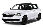2018 Skoda Fabia Ambition 5 Door Hatchback Angular Front automotive stock photos of front three quarter view