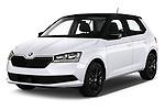 2018 Skoda Fabia Ambition 5 Door Hatchback Angular Front automotive stock photos of front three quarter view