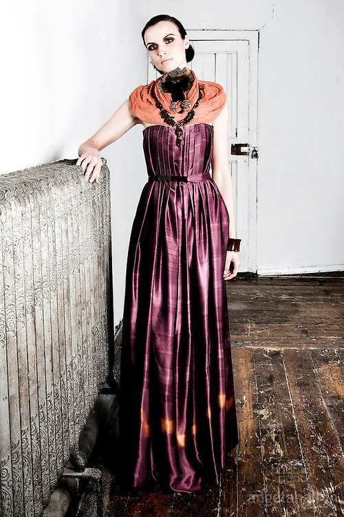 Fashion Designer: lil c couture, Claire O Connor.Model: Ewa Warzycha.Photography: Angela Halpin.http://www.lensload.com.Hair & Make up: Brown Sugar.http://www.brownsugar.ie/.Location: La Catedral Studios - Dublin.http://www.lacatedralstudios.org/