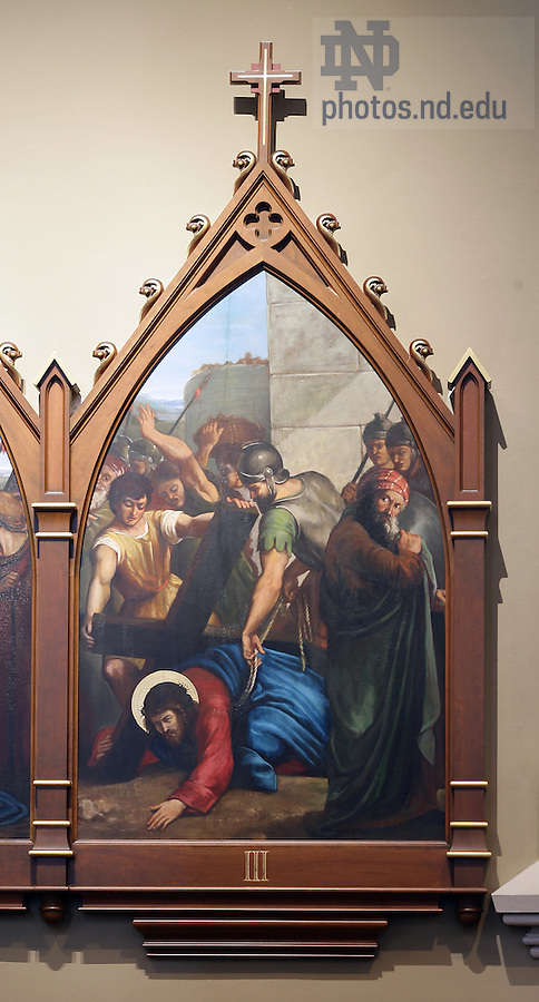 Stations of the Cross in the Basilica of the Sacred Heart.  Station3...Photo by Matt Cashore..