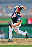 5 September 2011: Washington Nationals pitcher Tyler Clippard on the mound against the Los Angeles Dodgers at Nationals Park in Los Angeles, District of Columbia. The Nationals defeated the Dodgers 7-2 in the first game of their 4-game series. Mandatory Credit: Ed Wolfstein Photo