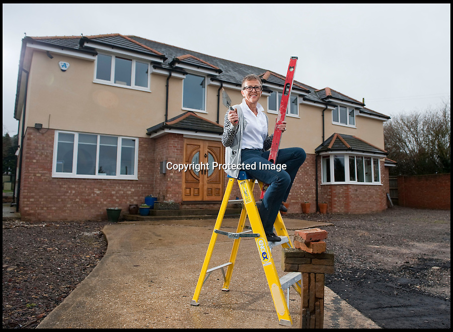BNPS.co.uk (01202 558833)<br /> Pic: PhilYeomans/BNPS<br /> <br /> Plucky Carol Sullivan turned a £160,000 black hole left by cowboy builders into one million pound house - after building her dream home herself.<br /> <br /> Carol was left severley out of pocket after her luxury home was built with sub-standard mortar - meaning the whole structure had to be pulled down when the project was half way through.<br /> <br /> After firing the builders and waving goodbye to £160,000, undaunted Carol(50) enrolled on a bricklaying course at her local college and learned how to build the house herself. <br /> <br /> Further courses in carpentry and plumbing  have enabled determined Carol to complete the project in a year. The house is now thought to worth £1 million.