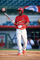 Palm Beach Cardinals Johan Mieses (37) at bat during a game against the Florida Fire Frogs on May 1, 2018 at Osceola County Stadium in Kissimmee, Florida.  Florida defeated Palm Beach 3-2.  (Mike Janes/Four Seam Images)