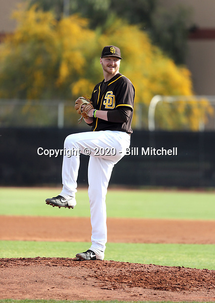 Drake Fellows - San Diego Padres 2020 spring training (Bill Mitchell)