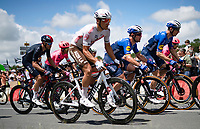 eventual stage winner Mark Cavendish (GBR/Deceuninck - Quick Step) escorted in the peloton by Michael Morkov (DEN/Deceuninck - Quick Step)<br /> <br /> Stage 4 from Redon to Fougères (150km)<br /> 108th Tour de France 2021 (2.UWT)<br /> <br /> ©kramon