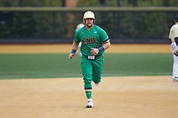 Niko Kavadas (12) of the Notre Dame Fighting Irish rounds the bases during the game against the Wake Forest Demon Deacons at David F. Couch Ballpark on March 10, 2019 in  Winston-Salem, North Carolina. The Demon Deacons defeated the Fighting Irish 7-4 in game one of a double-header.  (Brian Westerholt/Four Seam Images)