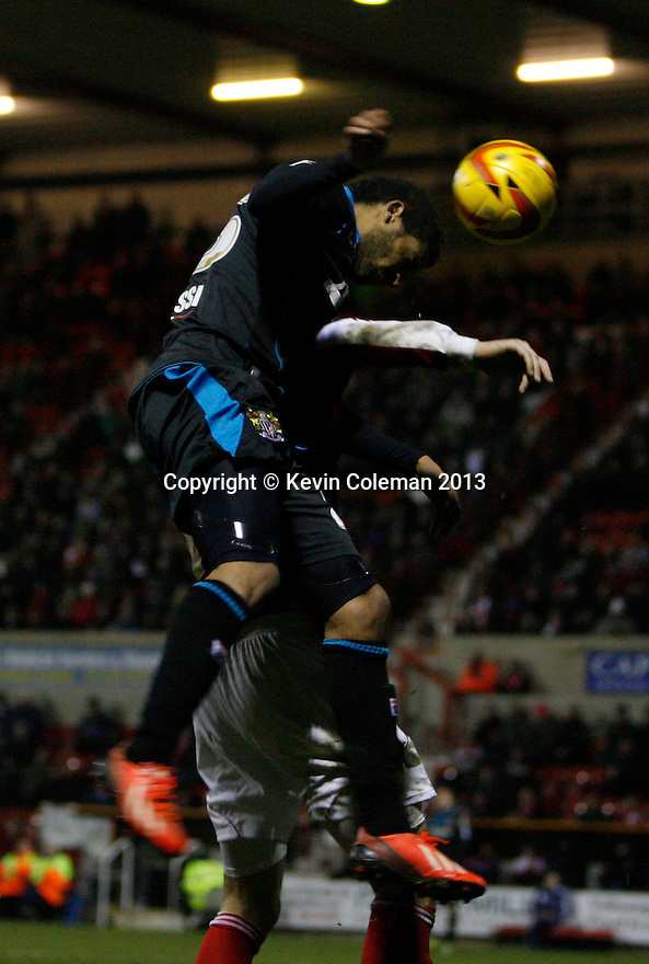 Bruno Andrade of Stevenage heads on<br />  - Swindon Town v Stevenage - Johnstone's Paint Trophy - Southern Section Semi-final  - County Ground, Swindon - 10th December, 2013<br />  © Kevin Coleman 2013