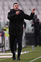 Roberto De Zerbi coach of US Sassuolo reacts during the Serie A football match between Juventus FC and US Sassuolo Calcio at Allianz stadium in Torino (Italy), January 10th, 2021. Photo Federico Tardito / Insidefoto