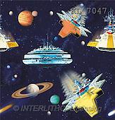 Interlitho, Luis, GIFT WRAPS, paintings, spaceships(KL7047,#GP#) everyday