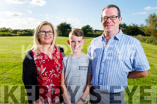 Luke Fitzmaurice graduating from Abbeydorney NS on Monday night standing with his dad and mom Michelle and Tom Fitzmaurice.