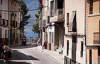 peloton rolling through town<br /> <br /> Stage 2: Benidorm to Calpe (199.6km)<br /> La Vuelta 2019<br /> <br /> ©kramon