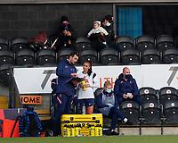 Alex Morgan of Tottenham prepares to make her debut during Tottenham Hotspur Women vs Reading FC Women, Barclays FA Women's Super League Football at the Hive Stadium on 7th November 2020