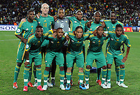 South Africa team group. Brazil defeated South Africa 1-0 during the semi-finals of the FIFA Confederations Cup at Ellis Park Stadium in Johannesburg, South Africa on June 25, 2009..