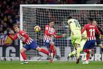 (L to R) Club Atletico de Madrid's Antoine Griezmann, Stefan Savic, Thomas Lemar and Futbol Club Barcelona's Leo Messi  during La Liga match. November 24,2018. (ALTERPHOTOS/Alconada)