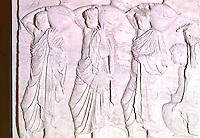 Greek Arts:  Hydriaphoroi--water carriers.  Acropolis Museum.