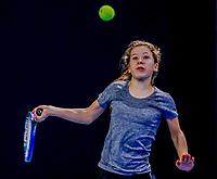 Hilversum, Netherlands, December 3, 2017, Winter Youth Circuit Masters, 12,14,and 16 years, Isis van den Broek (NED)<br /> Photo: Tennisimages/Henk Koster