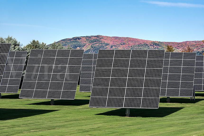 Solar farm, Vermont, USA