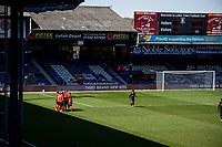 17th April 2021; Kenilworth Road, Luton, Bedfordshire, England; English Football League Championship Football, Luton Town versus Watford; Luton Town celebrate as they score with a penalty for 1-0 in the 77th minute scored by James Collins.