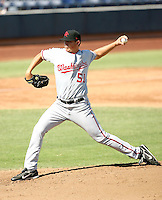 Sammy Solis - Scottsdale Scorpions - 2010 Arizona Fall League. Solis, the Washington Nationals 2010 2nd round draft pick, pitches in his first professional game against the Peoria Javelinas at Peoria Stadium - 10/16/2010.Photo by:  Bill Mitchell/Four Seam Images..