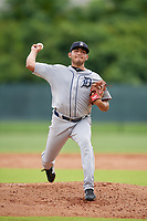 GCL Tigers West pitcher Emmanuel Quinones (15) during a Gulf Coast League game against the GCL Phillies West on July 27, 2019 at the Carpenter Complex in Clearwater, Florida.  (Mike Janes/Four Seam Images)